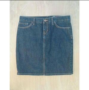 Gap blue Jean mini skirt size 8